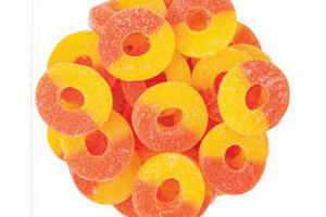 peach 100mg cbd GUMMIES