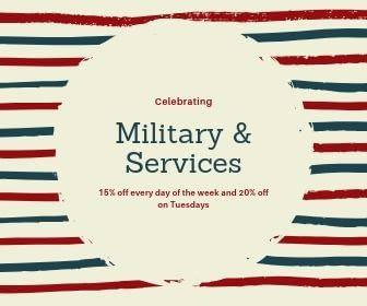 Military & services discounts cbd dispensary