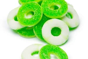 green apple rings with cbd